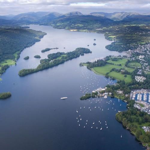 Wwindermere Lake aerial view